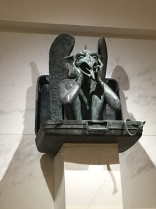 The baggage claim gargoyles